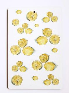 I LOVE DESIGN skärbräda lemon