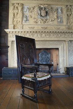 The chair:table in front of the fireplace, Red Lodge, Bristol, England