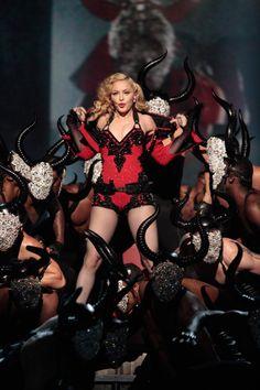 Madonna's best, glitziest 'Rebel Heart' looks: http://thecut.io/19FL8PU