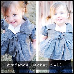 cute patterns :) Prudence Jacket Sizes 5-10
