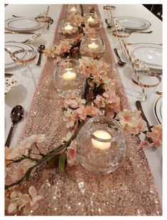 Birthday Table Decorations, Quince Decorations, Wedding Decorations, Rose Gold Christmas Decorations, Rose Gold Table Decorations, Rose Gold Centerpiece, Gold Wedding Centerpieces, Rose Gold Party Supplies, Gold Table Runners