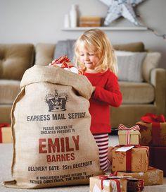DESIGN FETISH: Time For Gifts: Personalised Santa Sacks