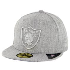 23c3abff76c New Era 59Fifty Oakland Raiders Twisted Frame Fitted Hat Grey - Billion  Creation Streetwear Nfl Caps