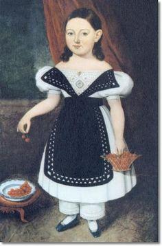 american folk art portraits | Unknown American Artist American Folk Art Painting Portrait by Unknown ...