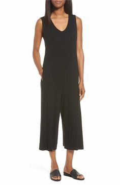 Main Image - Eileen Fisher Jersey Jumpsuit