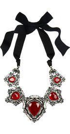 LanvinCrystal ribbon necklace