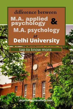 The department of psychology at the University of Delhi offers two types of courses in their post-graduation psychology program. These courses are: M.A applied psychology and M.A Psychology. In this article, we will talk about the difference between M.A applied psychology and M.A psychology and what you should choose. Masters In Psychology, Applied Psychology, Psychology Courses, Psychology Programs, University Of Delhi, Psychology Department, Graduation Post, Different, How To Apply