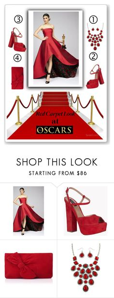 """""""red carpet look at the oscars"""" by maria-nakhleh ❤ liked on Polyvore featuring Mac Duggal, Dsquared2 and L.K.Bennett"""