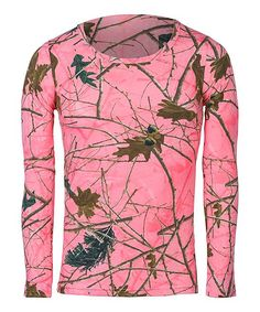 Neon Pink Forest Long-Sleeve Tee