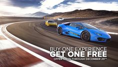 Season's Greetings from SPEEDVEGAS. Now through December 29th SPEEDVEGAS we'll double your supercar fun! Reserve any driving experience before December 29th and receive another free! Drive two supercars for the price of one or bring a friend and share! Call 702-963-0391 or come to SPEEDVEGAS and mention this offer. https://speedvegas.com/en/offers/buy-one-get-one-free/info