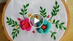 Hand Embroidery: Whipped Back Stitch/Loop Stitch - Salvabrani - Salvabrani Stem Stitch Flower Rose Tutorial by Kayla of Knotty Dickens You can find this embroidery kit in my Etsy shop: www - Salvabrani Hand Embroidery Flowers, Learn Embroidery, Hand Embroidery Stitches, Embroidery Needles, Silk Ribbon Embroidery, Hand Embroidery Designs, Embroidery Techniques, Lazy Daisy Stitch, Brazilian Embroidery