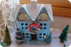 How to make a glitter house