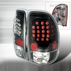 1997-2004 Dodge Dakota Black LED Tail Lights