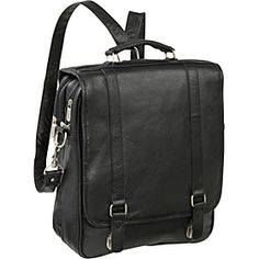 Buy the AmeriLeather Leather Laptop Backpack Briefcase at eBags - With a comfortable and versatile design, this backpack briefcase offers organization and storage for Leather Laptop Backpack, Black Leather Backpack, Backpack Straps, Leather Briefcase, Laptop Bag, Leather Bag, Coupon, Plastic Grocery Bags, Cowhide Leather