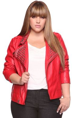 Red Jacket Womens Plus Size Fashion Unique Style Inspiration Urban Apparel #UNIQUE_WOMENS_FASHION