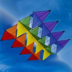 rainbow colored box kite
