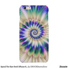 Spiral #Tie-Dye Swirl iPhone 6 Plus Case Matte #iPhone 6 Plus Case   #zazzle