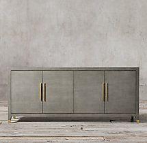 Graydon Shagreen Panel 4-Door Sideboard