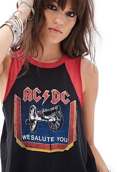 AC/DC Muscle Tee | FOREVER21 - 2000101720
