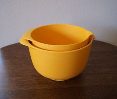 """Vintage Modern Mixing Bowls, Made in Denmark, """"Margrethe"""" style by Rosti-Mepal"""