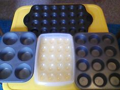 Math Idea: Use muffin tins, egg cartons, deviled egg container, etc. to teach arrays. Topic: pre-multiplication activity, review work