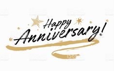 Happy Anniversary Lettering, Happy Anniversary Cards, Label Design, Graphic Design, Letter Art, Brush Lettering, Free Vector Art, Business Design, Image Now