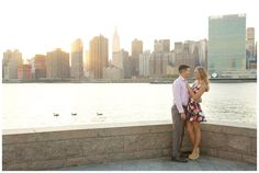 NYC Long Island City Engagement Session virginia beach engagement photography #elovephotos #engagements #whattowear