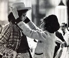 Mademoiselle Chanel suiting one of her girl's