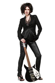Прическа в рок-стиле