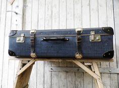 alter großer Koffer 50er Jahre Vulkanfiber von Gernewieder auf Etsy