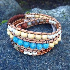 NEW  Summer Inspired Triple Wrap Bracelet!  Lava Stone Aquamarine Quartz Wood -- Handmade  Local West Coast Jewelry >> wanderlustwrists.etsy.com  --> Link in bio #bracelet #bracelets #handmade #handmadebracelet #handmadejewelry #local #etsy #wanderlust #travel #explore #victoria #leather  #travelbracelet #crystalproperties #healing #bohemian #jewelry #wrapbracelet #chanluu #quartz #adventure #westcoast #lavastone #adventure #summer #beach