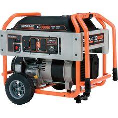 Generator for backup power to house center heat, refrigerators, lights, etc