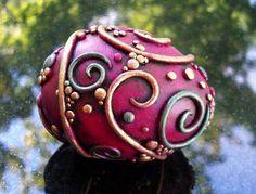 Violet Swirl Egg  by MandarinMoon, via Flickr