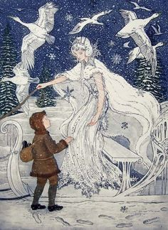 The Snow Queen by Debra McFarlane-The Illustration Cupboard