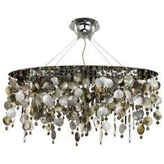 Cool Coastal contemporary Midnight Pearl Pendant Chandelier - LightingLuxuryStyle.com
