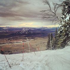 The Valley from JHMR. #skiing #jacksonhole