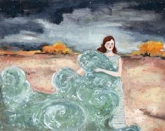 she carried with her the sea by amanda blake art, via Flickr