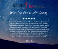 We love giving people quality real estate experiences. Call us today or visit our website for more information about who we are and what we do. #jonesresults #kellerwilliams #lovewhereyoulive #lovethelifeyoulive #reviews #whatpeoplearesaying #realestate #realtor #tucson #followforfollow #likeforlike