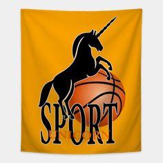 'Unicorn sport' by kriko Framed Prints, Canvas Prints, Long Hoodie, Laptop Sleeves, Wall Tapestry, Decorative Throw Pillows, Chiffon Tops, Classic T Shirts, Unicorn