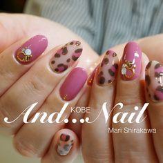 Leopard Nails, Pink Nails, Japanese Nails, Nail Patterns, Flower Nail Art, Nail Inspo, Nail Tips, Nails Inspiration, Beauty Nails