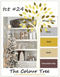 addINKtive designs: Christmas at The Colour Tree #24 - Whisper White, Silver, Gold, Kraft and Chocolate Chip