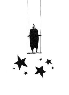 Illustration for kids room #black