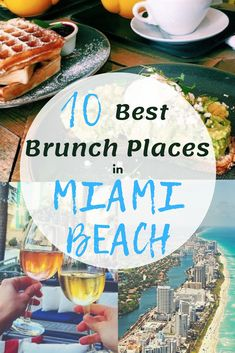 The 10 best places to have brunch in Miami Beach. Looking for the best places for brunch in Miami? Here our our top picks. Grab some friends, and enjoy some drinks and breakfast food; is there anything better? South Beach Miami, Miami Florida, South Florida, Miami Restaurants, Best Brunch Places, Best Places To Eat, Miami Girls, Florida Travel, Arizona Travel