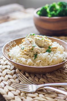 Easy Creamy Crockpot Chicken and Rice - Lovely Little Kitchen