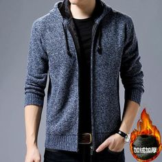 2018 New Brand Autumn Winter Thick Fleece Mens Sweaters Cotton Wool Knitwear Cardigan Masculino Sweater Hombre Plus Size M-3xl Distinctive For Its Traditional Properties Sweaters