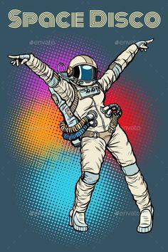 Female Astronaut Dancing Disco