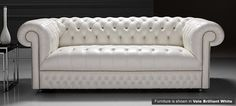 White Chesterfield sofa. £1,729. Leather sectional sofa