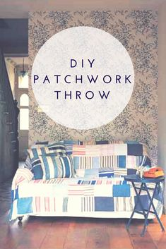 You're likely to already have everything you need for this DIY patchwork throw.