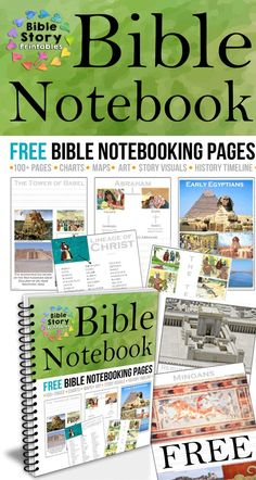 Free Bible Notebooking Pages!  http://www.biblestoryprintables.com/BibleNotebooking
