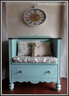antique dresser turned bench